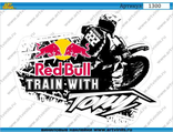 Наклейка red bull train with